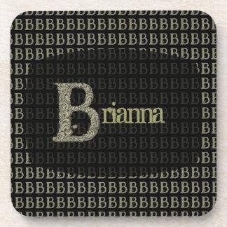 B - El alfabeto de Falck (de oro) Posavasos De Bebida
