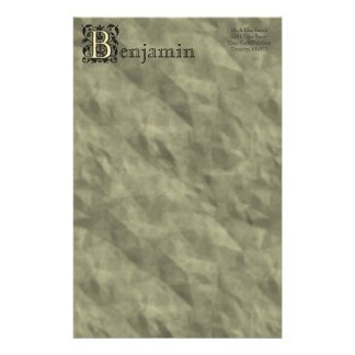 B - Embossed Vintage Monogram Stationery