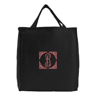 """""""B"""" Embroidered Tote Bag / by: Opal01"""
