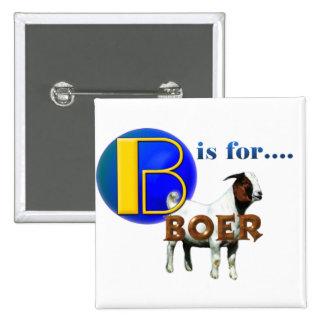B es rBOER de las FO - REGALOS de la CABRA Pin Cuadrado