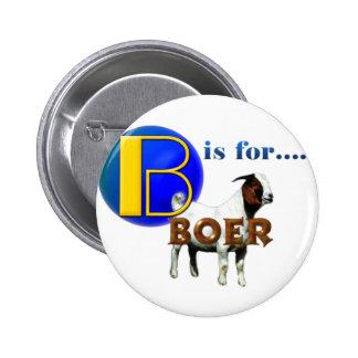 B es rBOER de las FO - REGALOS de la CABRA Pin Redondo De 2 Pulgadas