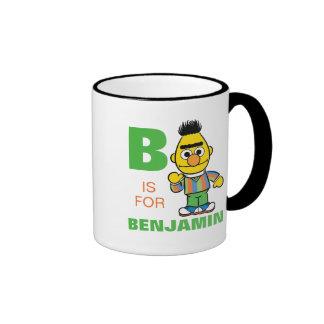 B está para Bert Taza De Dos Colores