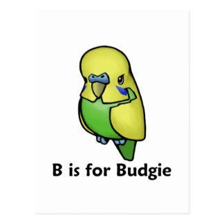 B está para Budgie Tarjetas Postales