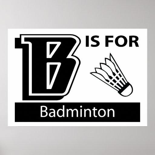 B está para el bádminton impresiones