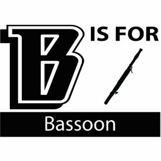 B está para el Bassoon Adorno Fotoescultura
