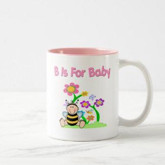 B está para el bebé taza de dos tonos