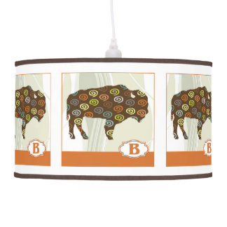 B está para el bloque del alfabeto del bisonte lámpara de techo