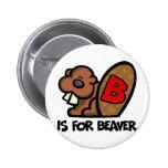 B está para el castor pin