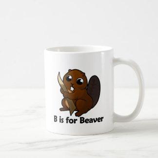 B está para el castor taza