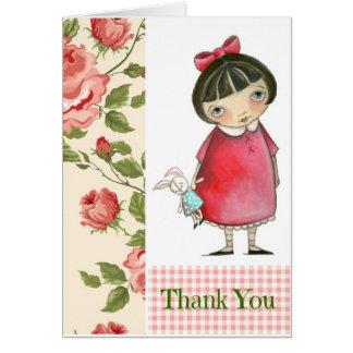 B está para el conejito le agradece - los tarjeta pequeña