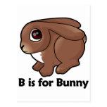 B está para el conejito postal