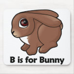 B está para el conejito tapetes de ratones
