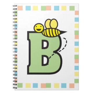 B está para el cuaderno de la abeja