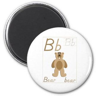 B está para el imán del oso