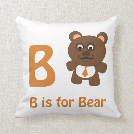 B está para el oso almohadas