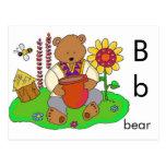 B está para el oso tarjeta postal