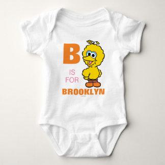 B está para el pájaro grande body para bebé