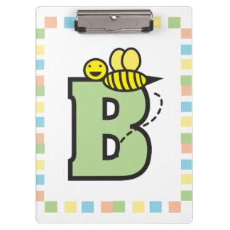 B está para la abeja