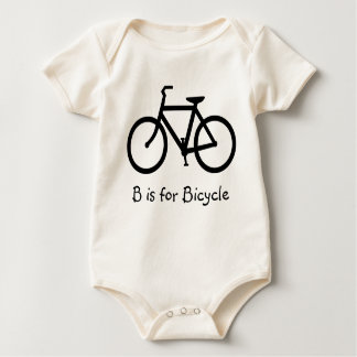 B está para la bicicleta traje de bebé