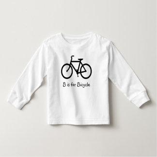 B está para la bicicleta playera de bebé