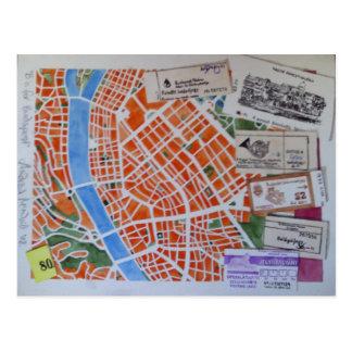 B está para la postal de Budapest