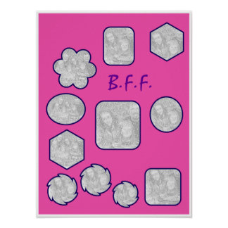 B.F.F. Picture Collage Poster