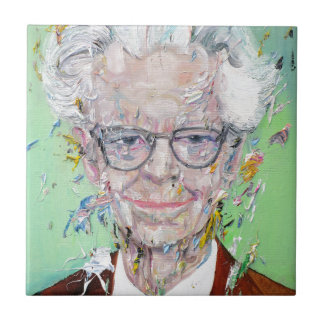 b.f. skinner - oil portrait tile