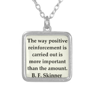 b f skinner quote personalized necklace