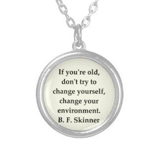 b f skinner quote custom jewelry