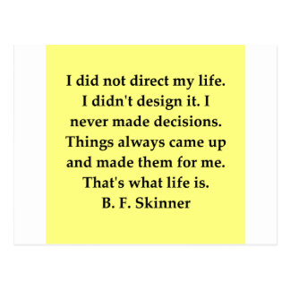b f skinner quote postcard