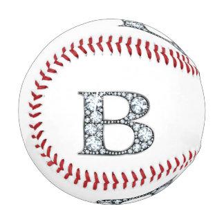 "B Faux-""Diamond"" Monogram Baseball"