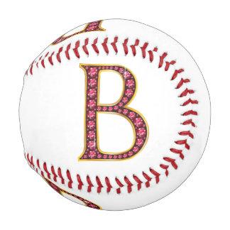 """B Faux-""""Ruby"""" Monogram Baseball"""