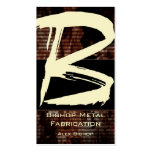 B Flame Monogram Business Card