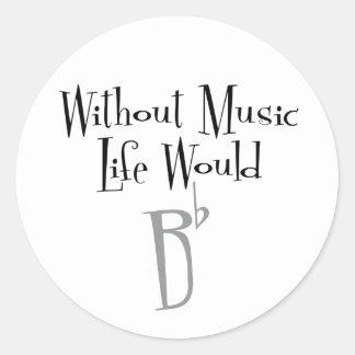 B Flat Sticker