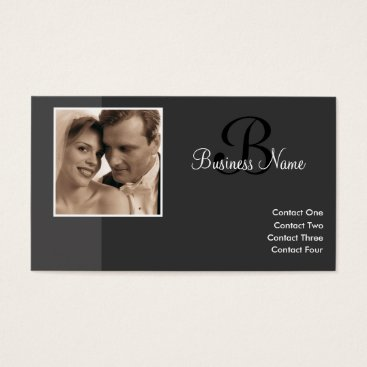 Professional Business B for Baby Charcoal Business Cards