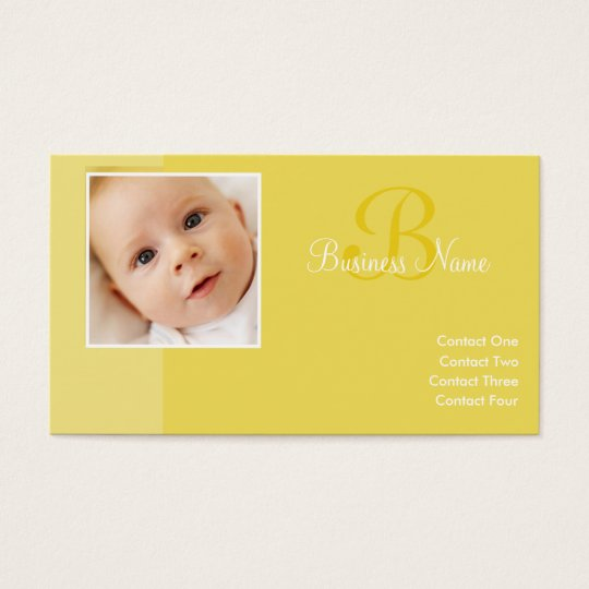 B for Baby Yellow Business Cards