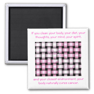 b...forever...aware...breast cancer 2 inch square magnet
