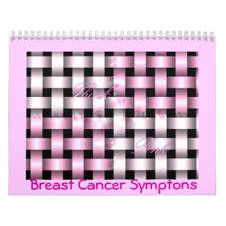 b...forever...aware...breast cancer symptons wall calendar