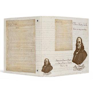 B. Franklin: Liberty & Country - Binder binder