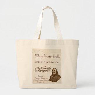 B. Franklin: Liberty & Country - Jumbo Tote bag