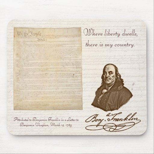 B. Franklin: Liberty & Country - Mousepad