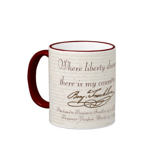 B. Franklin: Liberty & Country - Mug #2