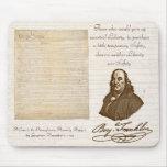 B. Franklin: Liberty & Safety - Mousepad