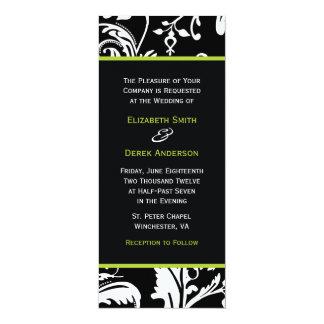B&G Contemporary Damask Invitation Skinny