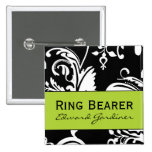 B&G Square Ring Bearer Button