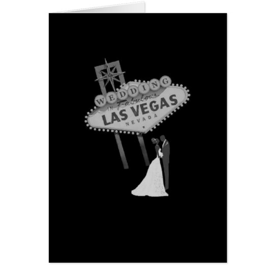 B&G Wedding in Fabulous Las Vegas Card Retro