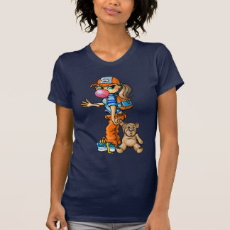 B girl and teddybear T-Shirt