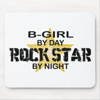 B-Girl Rock Star by Night Mouse Pad