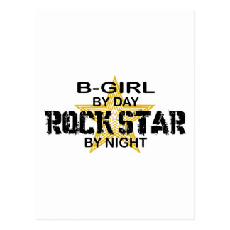 B-Girl Rock Star by Night Postcard