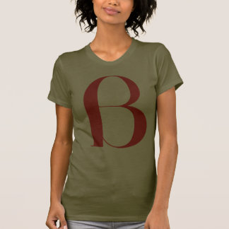 B grande: Jeanne Moderno Lettres Camiseta